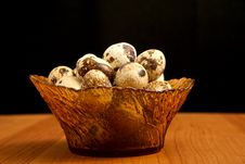 Free Vase With Quail Eggs. Royalty Free Stock Photography - 23164397