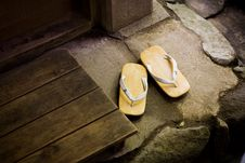 Free Japanese Style Sandals Stock Photography - 23164952