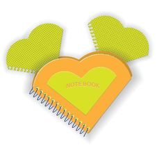 Free Notebook In The Form Of Heart Royalty Free Stock Image - 23168086
