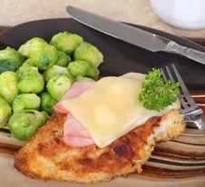 Free Stacked Chicken Cordon Bleu Dinner Stock Image - 23168571