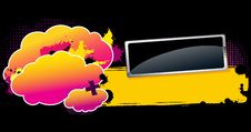 Free Glossy Banner On Colorful Background. Royalty Free Stock Photo - 23171145