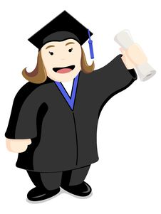 Graduate Student Female Stock Images