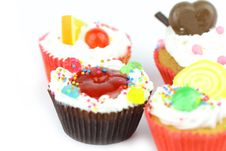 Free Close Up Cup Cake Royalty Free Stock Photos - 23173458