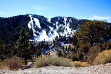 Free Snowy Ski Slope Stock Image - 23178401