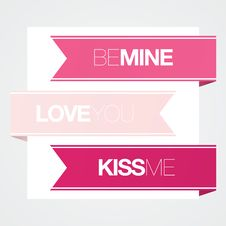 Free Modern Valentines Love Banners Stock Photo - 23179300