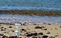 Free Crystal Hourglass On Marine Beach Royalty Free Stock Image - 23189706