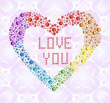 Romantic Iridescent Heart Royalty Free Stock Image