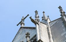 Free Fragment Of Wall Of Basilica With Gargoyle Stock Photography - 23182822