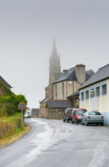Free Treguier Cathedral In Foggy Weather Stock Photo - 23182840