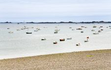 Free Many Boat In Water Of English Channel In Brittany Stock Image - 23182841