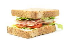 Free Whole Wheat Bread Sandwich Royalty Free Stock Photos - 23183398