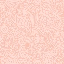 Free Floral Seamless Retro Pattern Stock Photo - 23183640