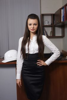 Free Business Woman In An Office Environment Royalty Free Stock Photography - 23185167