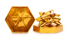 Free Open Gold Gift Box Royalty Free Stock Images - 23189069