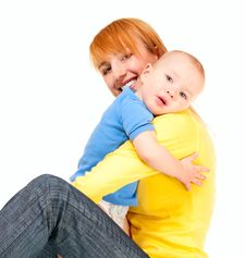 Free Mother And Son Embrace Royalty Free Stock Image - 23189306