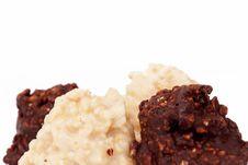 Free Dark And White Almond Truffle Chocolate Stock Image - 23189481