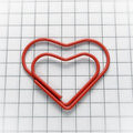 Free Heart Shaped Paper Clip Royalty Free Stock Image - 23191496