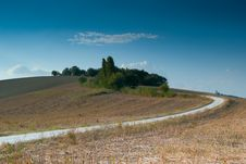 Free Panoramic Sunset Landscape Road In Italy Stock Images - 23190274