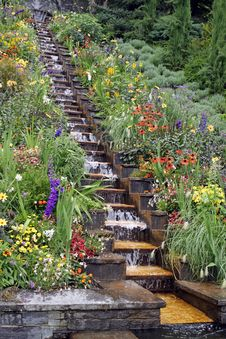 Free Garden Waterfall Royalty Free Stock Image - 23191746