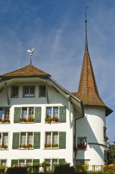 Free Facade Of A Swiss House Stock Image - 23192181