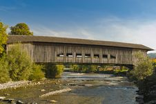Free Covered Bridge In Switzerland Royalty Free Stock Image - 23192206