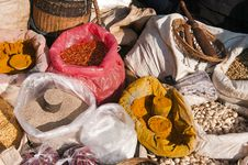 Free Spice Market, Myanmar Stock Photography - 23192312
