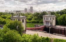 Floodgates On The Moscow Canal Stock Image