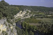 Free La Roque-Gageac Panorama Stock Photography - 23193092