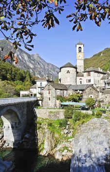 Free Verzasca Village Stock Image - 23193241