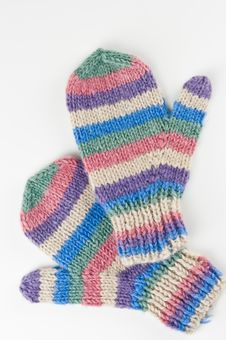 Free Colourful Wool Mittens Stock Photo - 23193570