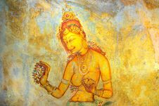 Free Sigiriya Frescoes Stock Photo - 23196790