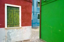 Free Colourful Houses Of Burano Stock Photo - 23196860