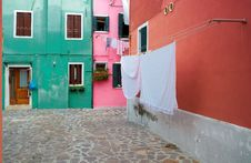 Free Colourful Houses Of Burano Stock Photo - 23196990