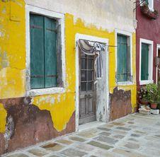 Free Colourful Houses Of Burano Stock Photos - 23197133