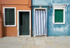 Free Colourful Houses Of Burano Royalty Free Stock Image - 23197766