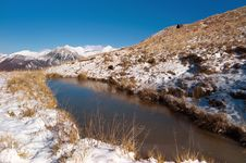 Free Frozen Lake In The Alps Royalty Free Stock Image - 23197916