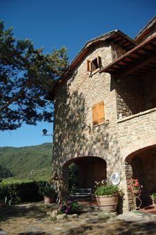 Farmhouse Hotel In A Tuscany Villa Stock Photos