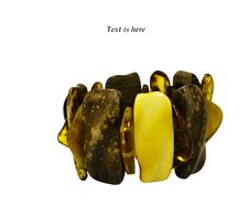 Bracelet Of Baltic Amber Isolated On White Stock Photography
