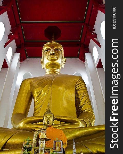 A larger Buddha,  Ang Thong province, Thailand.