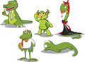 Free Green Reptiles Royalty Free Stock Image - 2322516