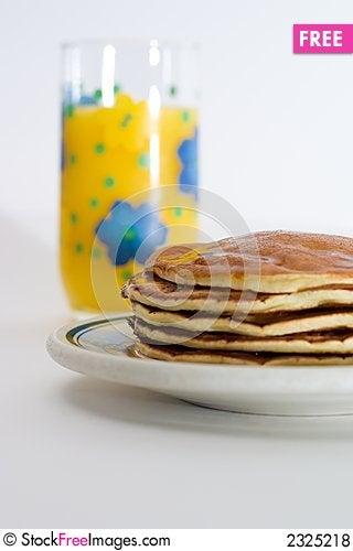 Free Orange Juice And Pancakes Royalty Free Stock Photos - 2325218