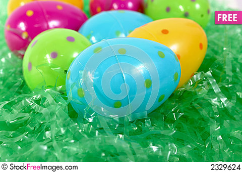 Spotted Plastic Easter Eggs