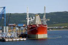 Free Supply Ship At Dock (Close-up) Stock Photos - 2320113