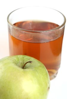 Green Apple And Glass Of Juice Royalty Free Stock Photo