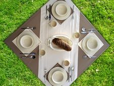Free Breakfast On Grass Stock Photography - 2320892