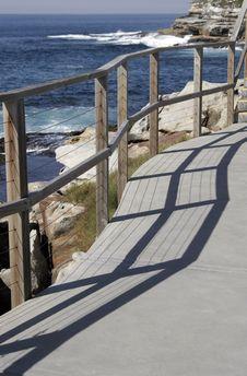 Path Along The Coast Stock Photo