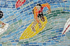 Free Mosaic Surfer, Background Royalty Free Stock Photos - 2321038