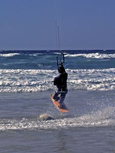 Free Kite Surfer Making A Jump Stock Image - 2322221