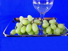 Green Grapes And White Wine