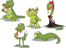 Green Reptiles Royalty Free Stock Image
